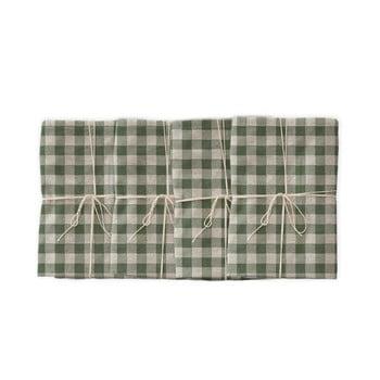 Set 4 șervețele textile Linen Couture Green Vichy, 43 x 43 cm bonami.ro
