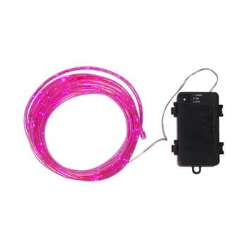 Șirag luminos LED pentru exterior Best Season Tuby, 50 becuri, roz poza bonami.ro