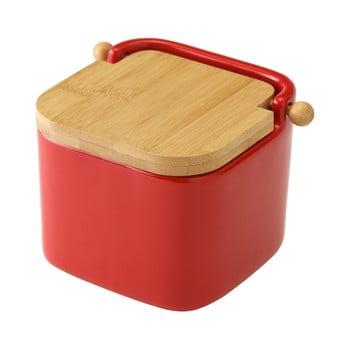 Recipient din ceramică pentru sare Unimasa, 750 ml, roșu bonami.ro