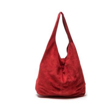 Poșetă din piele Roberta M 885, roșu poza bonami.ro