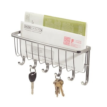 Suport suspendat pentru hol, pentru chei și scrisori iDesign Lyra, lungime 27,5 cm bonami.ro
