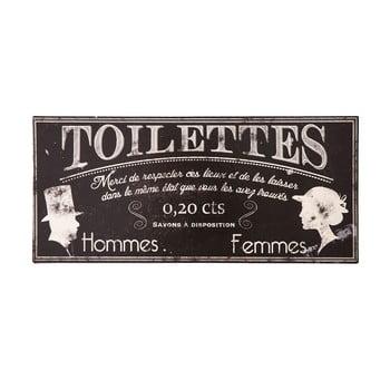 Plăcuță de metal Antic LIne Toilettes bonami.ro