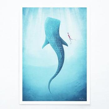 Poster Travelposter Whale Shark, A3 bonami.ro