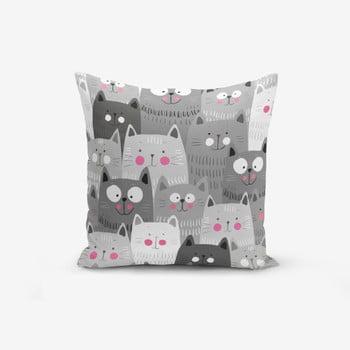 Față de pernă cu amestec de bumbac Minimalist Cushion Covers Catty, 45 x 45 cm poza bonami.ro