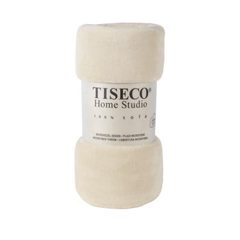 Pătură din micropluș Tiseco Home Studio,150x200cm, bej poza bonami.ro