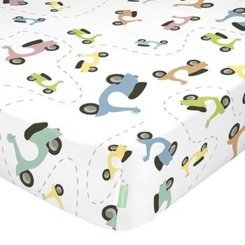 Cearșaf din bumbac pentru copii Happynois Summer Time, 120 x 60 cm bonami.ro
