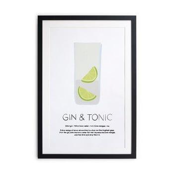 Tablou/poster înrămat Really Nice Things Gin Tonic, 40x50cm poza bonami.ro