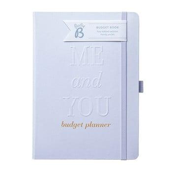 Caiet de nuntă pentru buget Busy B, argintiu poza bonami.ro
