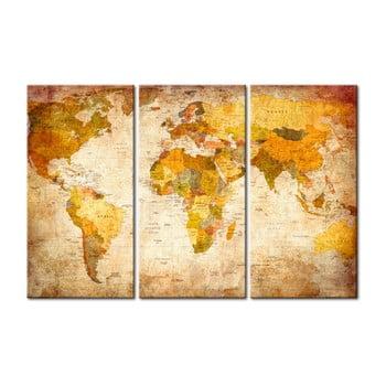 Hartă decorativă a lumii Bimago Antique Travel, 120 x 80 cm poza bonami.ro