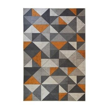 Covor Floorita Shapes, 160 x 230 cm, gri - portocaliu imagine