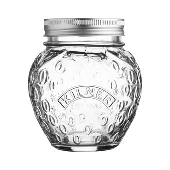 Borcan din sticlă cu capac Kilner Jahoda, 0,4 L poza bonami.ro