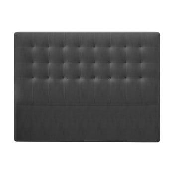 Tăblie pentru pat cu tapițerie de catifea Windsor & Co Sofas Athena, 140x120cm, gri închis poza bonami.ro