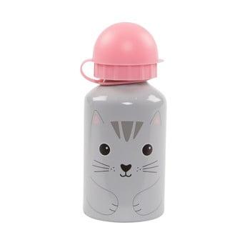 Sticlă pentru apă Sass & Belle Nori Cat, gri - roz poza bonami.ro