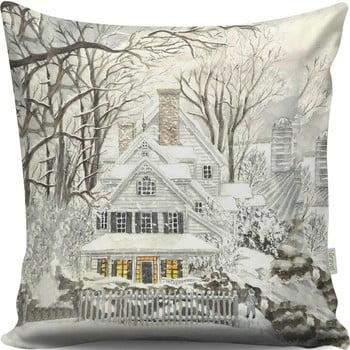 Pernă Dreamy Xmas House, 43x43 cm bonami.ro