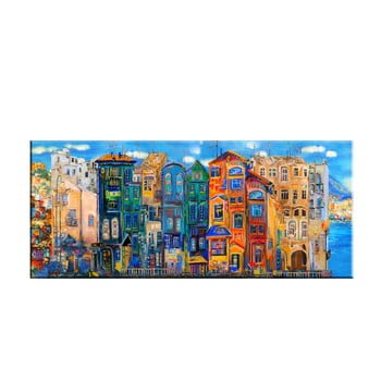 Tablou Tablo Center Colorful Houses, 140 x 60 cm bonami.ro