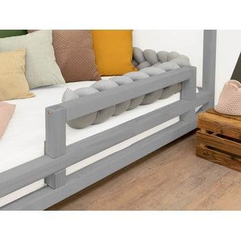 Panou lateral din lemn de molid pentru patul Benlemi Safety,lungime90cm, gri bonami.ro