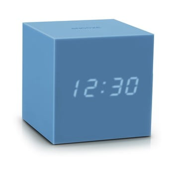 Ceas deșteptător cu LED Gingko Gravity Cube, albastru bonami.ro