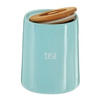 Recipient pentru ceai cu capac din lemn de bambus Premier Housewares Fletcher, 800 ml, albastru bonami.ro