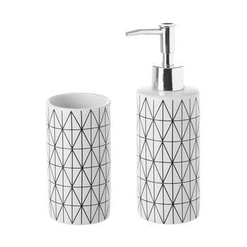 Set suport periuțe și dozator de săpun Unimasa Geometry, ceramică bonami.ro