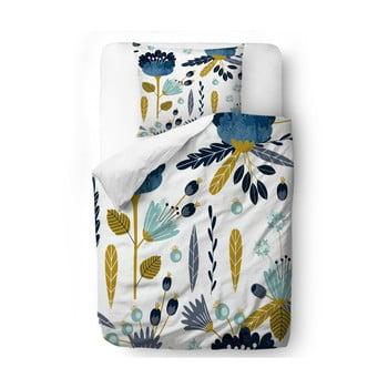 Lenjerie de pat din bumbac satinat Butter Kings Cross the Flower, 135 x 200 cm bonami.ro