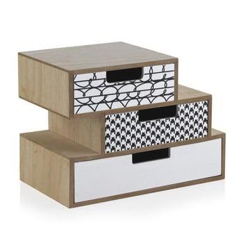 Cutie depozitare cu 3 sertare Geese Munich, lungime 25 cm bonami.ro