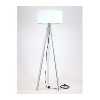 Lampadar cu abajur alb și cablu negru Ragaba Wanda, alb bonami.ro