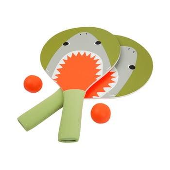 Set 2 palete și minge pentru plajă Sunnylife Shark Attack bonami.ro