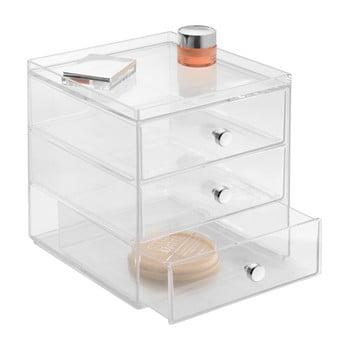 Organizator transparent cu 3 sertare iDesign Drawers, înălțime 18 cm bonami.ro