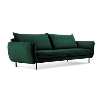 Canapea țesătură catifea Cosmopolitan Design Vienna, 230 cm, verde