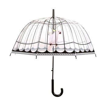 Umbrelă transparentă rezistentă la vânt Ambiance Birds, ⌀31cm poza bonami.ro