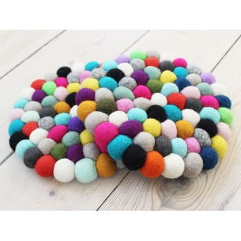 Suport pahar, cu bile din lână Wooldot Ball Coaster Multi Pang, ⌀ 20 cm bonami.ro