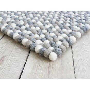 Covor cu bile din lână Wooldot Ball Rugs, 100 x 150 cm, gri deschis imagine