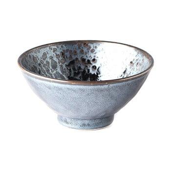 Bol din ceramică MIJ Pearl, ø 16 cm, negru - gri poza bonami.ro