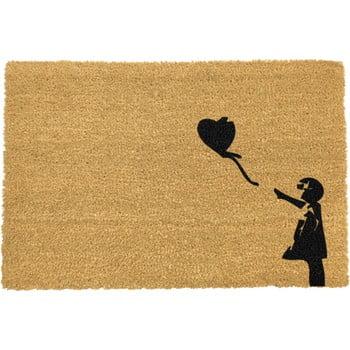 Covoraș intrare din fibre de cocos Artsy Doormats Girl with a Balloon Graffiti, 40 x 60 cm bonami.ro