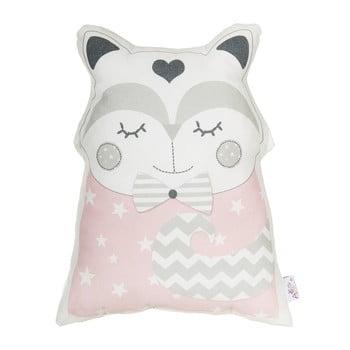 Pernă din amestec de bumbac pentru copii Mike&Co.NEWYORK Pillow Toy Smart Cat, 23 x 33 cm, roz bonami.ro