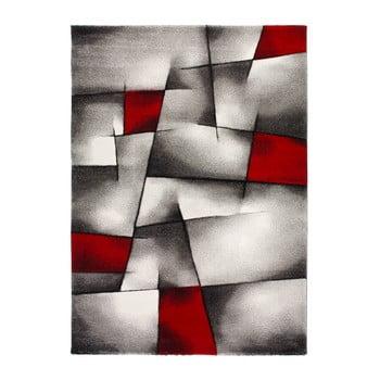 Covor Universal Malmo, 140 x 200 cm, roșu - gri imagine