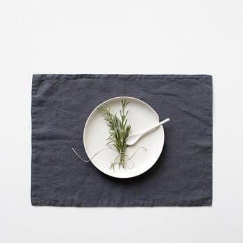 Suport din in pentru farfurie Linen Tales, 35x45cm, gri închis bonami.ro