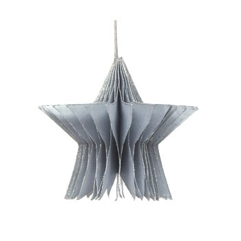 Decorațiune din hârtie pentru Crăciun, formă stea Only Natural, lungime 7,5 cm, argintiu bonami.ro