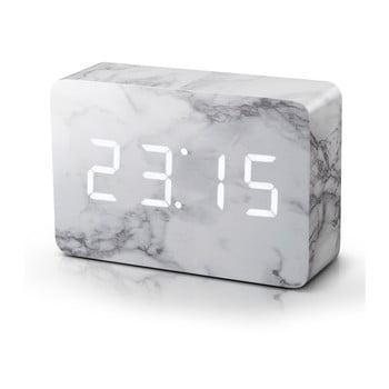 Ceas LED cu aspect de marmură Gingko Brick Marble Click Clock, alb bonami.ro