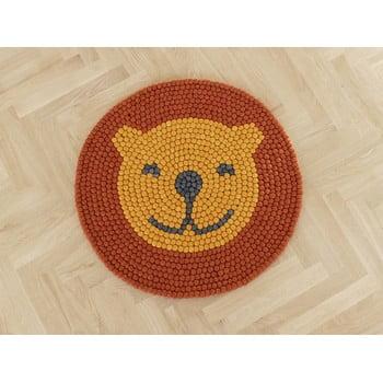 Covor cu bile din lână pentru camera copiilor Wooldot Ball Rugs Lion, ⌀ 90 cm imagine