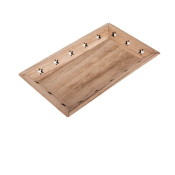 Tavă din lemn cu model de stele Dakls poza bonami.ro