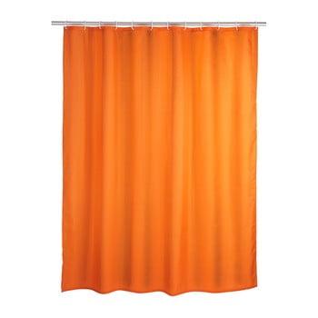 Perdea duș Wenko Puro, 180 x 200 cm, portocaliu poza bonami.ro