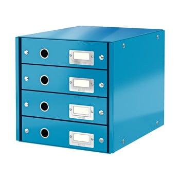 Cutie cu 4 compartimente Leitz Office, lungime 36 cm, albastru bonami.ro