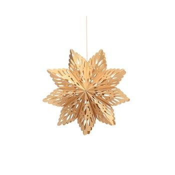 Decorațiune din hârtie pentru Crăciun, formă fulg Only Natural, lungime 22,5 cm, auriu bonami.ro