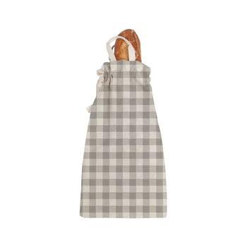 Sacoșă textilă pentru pâine Linen Couture Linen Bread Bag Grey Vichy bonami.ro
