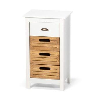 Dulap din lemn de pin și 4 sertare loomi.design Ibiza, alb poza bonami.ro