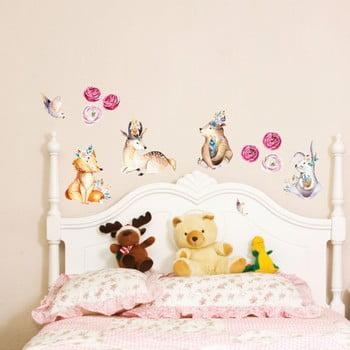 Autocolant de perete Ambiance Cute Forest Animals poza bonami.ro