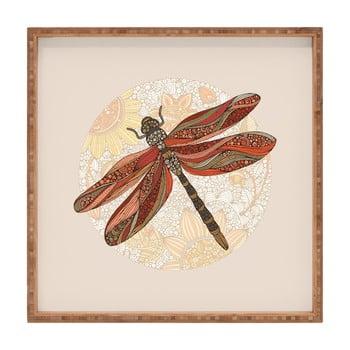 Tavă decorativă din lemn Dragonfly, 40x40cm poza bonami.ro