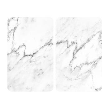 Set 2 protecții din sticlă pentru aragaz Wenko Marble, 52 x 30 cm poza bonami.ro