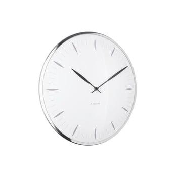 Ceas din sticlă pentru perete Karlsson Leaf, ø 40 cm, alb bonami.ro